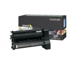 Lexmark 15G042Y - Cartouche de toner jaune de marque