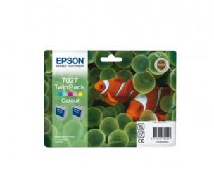Epson C13T027403 - Pack combo de 2 cartouches d'encre couleur de marque T027403