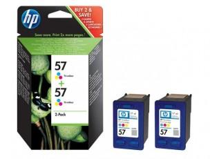 HP C9503AE - Pack de 2 cartouches encre couleur HP 57