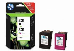 HP J3M81AE - Pack de 2 cartouches d'encre HP 301