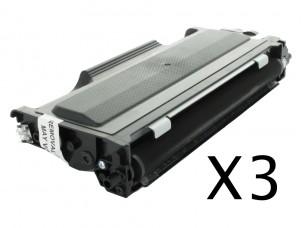 Brother TN2000 - Pack de 3 cartouches de toner compatibles