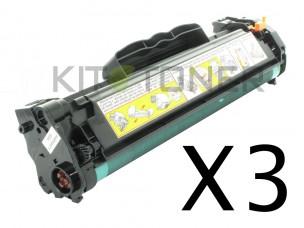 HP CB436A - Pack de 3 cartouches de toner compatibles 36A