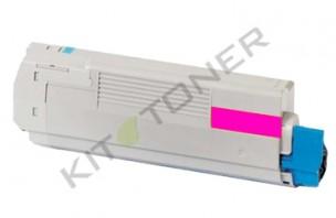 Oki 43872306 - Cartouche toner compatible Magenta