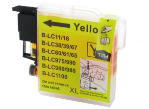 Brother LC1100Y - Cartouche d'encre compatible jaune