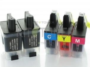 Brother LC900VALBP - Pack de 5 cartouches d'encre compatibles