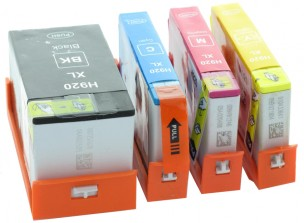 HP CD975AE, CD975AE, CD973AE, CD974AE - Pack de 4 cartouches d'encre compatibles HP 920XL