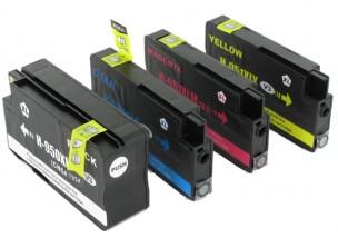 Cartouche HP 951XL et HP 950XL - Pack de 4 cartouches d'encre compatibles