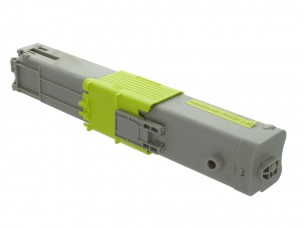 Oki 44973533 - Cartouche de toner jaune compatible