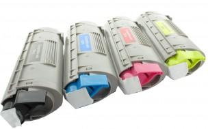 Oki 44315305, 44315306, 44315307, 44315308 - Pack de 4 toners compatibles 4 couleurs