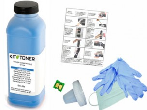 HP CF211A - Kit de recharge toner compatible cyan 131A