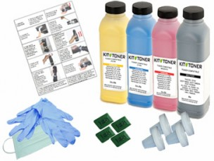Oki 43865708, 43872306, 43872305, 43872307 - Kit de recharge toner compatible 4 couleurs