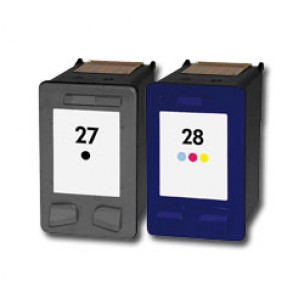 HP C8727AE, C8727AE - Pack 2 cartouches d'encre compatibles