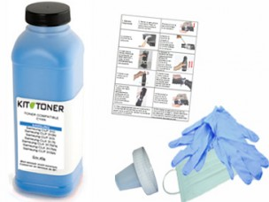 CF541X - Kit de recharge toner cyan compatible CF541X