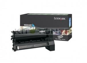 Lexmark 15G042C - Cartouche de toner cyan de marque