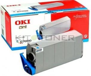 Oki 41963007 - Cartouche de toner cyan d'origine