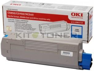 Oki 43865723 - Cartouche de toner cyan d'origine