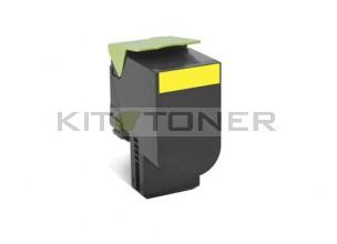 Lexmark 80C2HY0 - Cartouche de toner jaune de marque