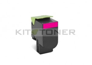 Lexmark 80C2SM0 - Toner magenta de marque