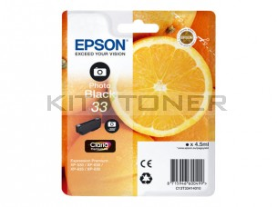 Epson C13T33414010 - Cartouche d'encre photo Black 33 d'origine