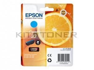 Epson C13T33424010 - Cartouche d'encre cyan 33 d'origine