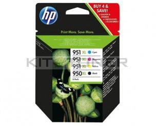 Pack cartouche HP 950XL et 951XL - Pack de 4 cartouches couleur HP C2P43AE