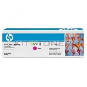 HP CC533A - Toner d'origine magenta 304A