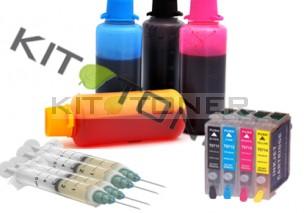 Epson C13T07154011 - Pack de 4 cartouches rechargeables compatible