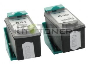 Canon PG40, CL41 - Pack de 2 cartouches d'encre compatibles