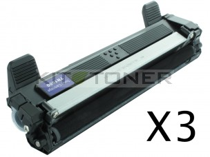 Brother TN1050 - Pack de 3 cartouches de toner compatibles