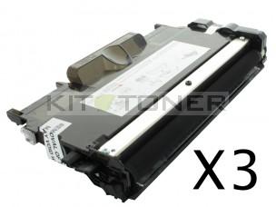 Brother TN2220 - Pack de 3 cartouches de toner compatibles