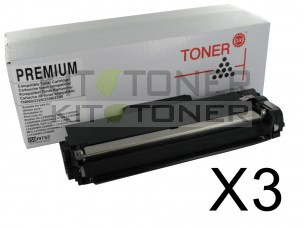 Brother TN2320 - Pack de 3 cartouches de toner compatibles