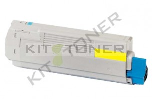Oki 43865721 - Cartouche toner compatible Jaune