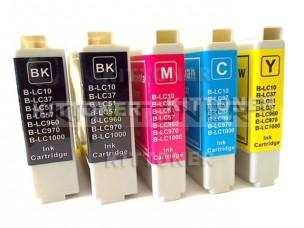 Brother LC970VALBP - Pack de 5 cartouches d'encre compatibles