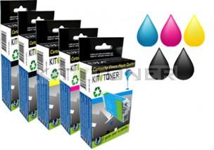 Canon PGI570PGBK, CLI571C, CLI571M, CLI571Y, CLI571BK - Pack de 5 cartouches d'encre compatibles