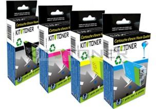 HP CN625AE, CN626AE, CN627AE, CN628AE - Pack de 4 cartouches d'encre compatibles 971XL