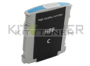 HP C9391AE - Cartouche d'encre compatible cyan 88 xl