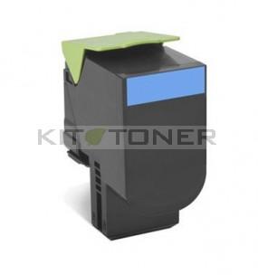 Lexmark 80C2HC0 - Cartouche toner compatible cyan