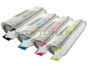 Oki 44059168, 44059166, 44059165, 44059167 - Pack de 4 toners compatibles 4 couleurs