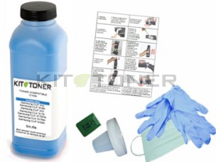 Oki 43487711 - Kit de recharge toner compatible Cyan