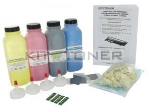 Samsung CLTC404S, CLTY404S, CLTM404S, CLTK404S - Kit de recharge toner compatible 4 couleurs