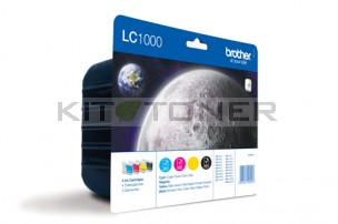 Brother LC1000VALBP - Pack de 4 cartouches d'encre d'origine LC1000VALBP