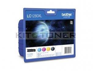 Brother LC1280XLVALBP - Pack de 4 cartouches d'encre LC1280XLVALBP