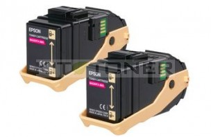 Epson S050607 - Pack de 2 cartouches de toner magenta d'origine