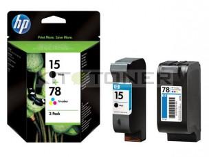 HP SA310A - Pack de 2 cartouches encre HP 15 + 78