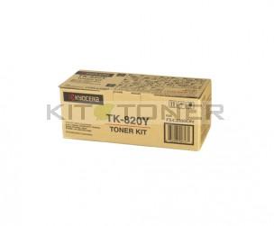 Kyocera TK820Y - Cartouche de toner jaune original