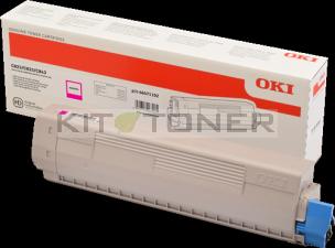 Cartouche de toner magenta d'origine Oki 46471102 pour imprimante OKI C843DN