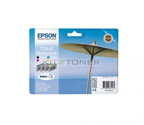 pack 4 cartouches d 39 encre epson t044540 pour imprimante epson stylus c84pe. Black Bedroom Furniture Sets. Home Design Ideas