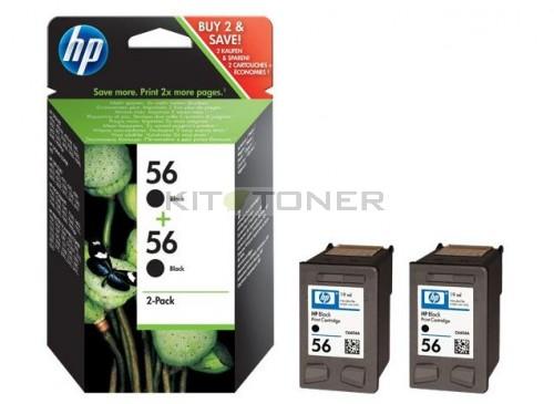 pack de 2 cartouches d 39 encre noire 56 pour imprimante hp. Black Bedroom Furniture Sets. Home Design Ideas