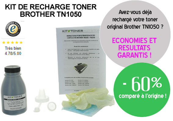 Recharge toner Brother TN1050