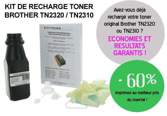 Rechargez votre toner Brother TN2320 et TN2310